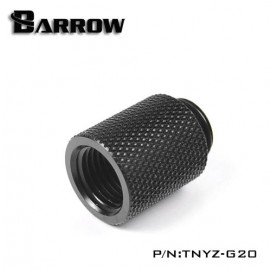 "Barrow G1/4"" 20mm Male to Female Extension Fitting - Black (TNYZ-G20)"