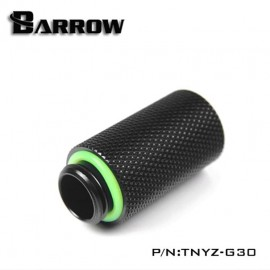 "Barrow G1/4"" 30mm Male to Female Extension Fitting - Black (TNYZ-G30-Black)"