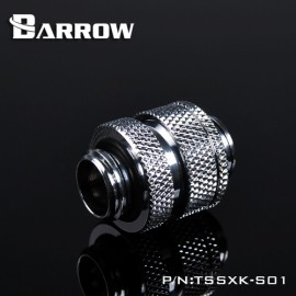 "Barrow G1/4"" 16-22mm Adjustable SLI / Crossfire Connector - Silver (TSSXK-S01-Silver)"