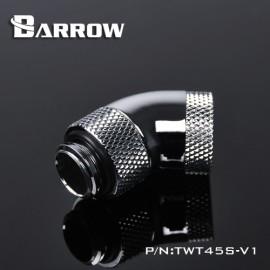 "Barrow G1/4"" 45 Degree Dual Rotary Adaptor Fitting - Silver (TWT45S-V1-Silver)"
