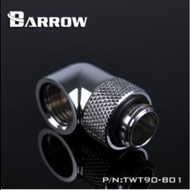 "Barrow G1/4"" 90 Degree Rotary Adaptor Fitting - Silver (TWT90-V2.5-Silver)"