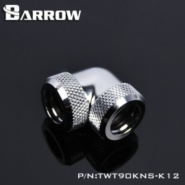 Barrow 90 Degree Dual Ended Multi-Link Adapter - 12mm OD Rigid Tube - Silver (TWT90KNS-K12-Silver)