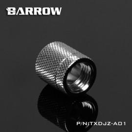 """Barrow G1/4"""" Female to Female Anti-Twist Rotary Adaptor Fitting - Silver (TXDJZ-A01-Silver)"""
