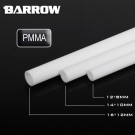 Barrow 12/8mm Acrylic Rigid HardTube (500mm) - White (YKW12-8)